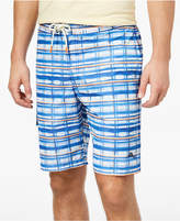 Tommy Bahama Men's Baja Water Crest Plaid Swim Trunks