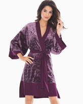 Soma Intimates Limited Edition Velvet Illusion Short Robe Bordeaux