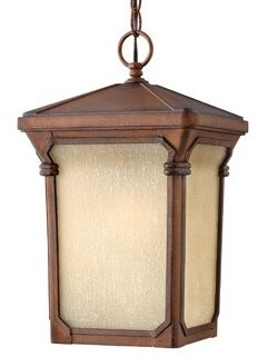 Stratford 1-Light Outdoor Hanging Lantern Hinkley Finish: Auburn, Bulb Type: Dark Sky Compliant