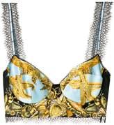 Versace printed brasierre top