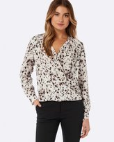Forever New Sylvia Wrap Front Blouse