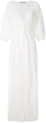 Martha Medeiros Elizabeth Twist maxi beach dress