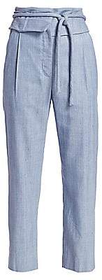 Rosie Assoulin Women's Obi Tied Straight-Leg Silk Pants
