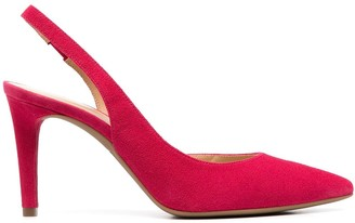 Michael Kors Collection Suede Leather Sling-Back Pumps