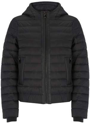 Mint Velvet Black Hooded Padded Jacket