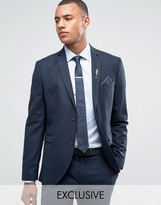 Jack & Jones Premium Skinny Suit Jacket In Navy