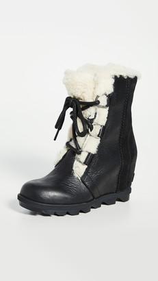 Sorel Joan Wedge Shearling Boots