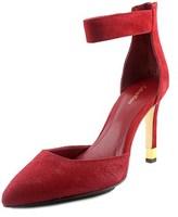 Calvin Klein Tanda Women Pointed Toe Suede Burgundy Heels.
