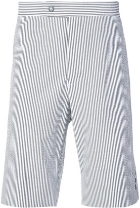 Moncler Striped Knee Length Shorts
