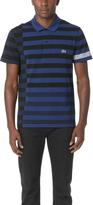 Lacoste Broken Striped Pique Polo Shirt