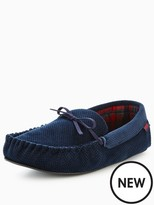 Totes Isotoner Totes Cord Moccasin Slipper With Memory Foam