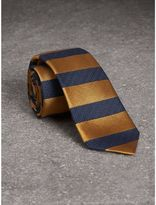Burberry Slim Cut Striped Silk Wool Tie
