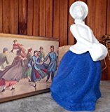 "Avon Victorian ""Skater's Waltz"" Figural Decanter Cotillion Cologne 4oz. Blue"