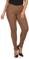 Dark Khaki Jeggings - Plus