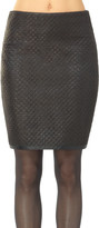 Max Studio Coated Basketweave Pencil Skirt