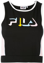 Fila cropped logo top - women - Cotton/Spandex/Elastane - M
