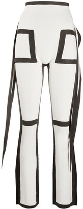 Issey Miyake Frame knitted trousers