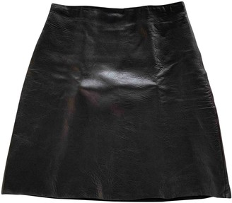 Willow Brown Leather Skirt for Women