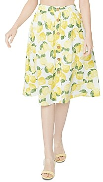 BCBGeneration Button Front Lemonade Skirt