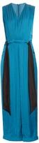 Cédric Charlier Gathered waist straight-leg satin jumpsuit