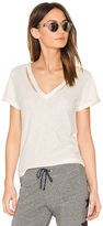 LnA Double Fallon V Tee in Ivory