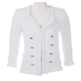 Zara White Cotton Jackets