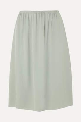 Theory Silk-crepe Skirt - Green