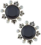 Stephen Dweck Quartz, Hematite & Pearl Doublet Button Earrings