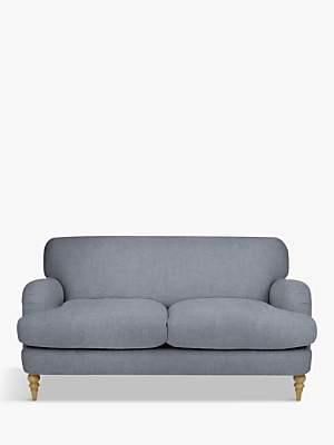 John Lewis & Partners Harrogate High Back Medium 2 Seater Sofa, Light Leg, Erin Grey