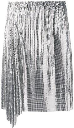 Paco Rabanne Draped Mini Skirt