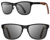 Shwood Women's 'Canby' 54Mm Titanium & Wood Sunglasses - Black Titanium/ Walnut