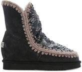 Mou sequin Inner Wedge boots