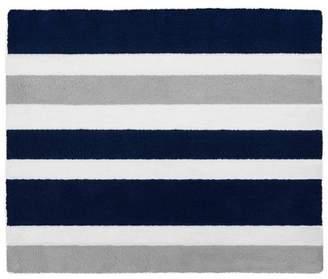 """JoJo Designs Sweet Navy & Gray Stripe Floor Rug (36""""x36"""")"""