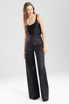 Josie Natori Stretch Embossed Crocodile High Waisted Pant