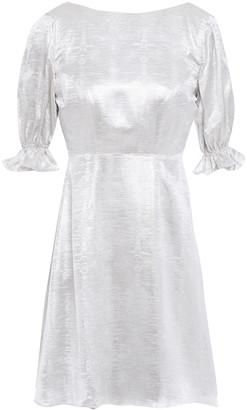 Shrimps Open-back Metallic Jacquard Mini Dress
