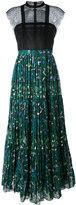 Valentino micro pleated maxi dress