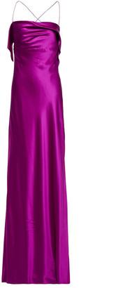 Mason by Michelle Mason Draped Silk-charmeuse Gown