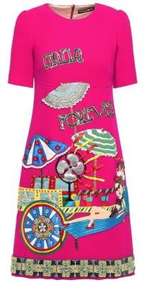 Dolce & Gabbana Embellished Wool-crepe Dress