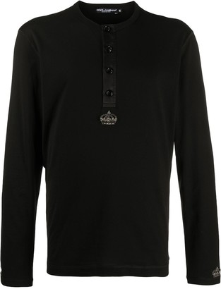 Dolce & Gabbana beaded motif long-sleeved T-shirt