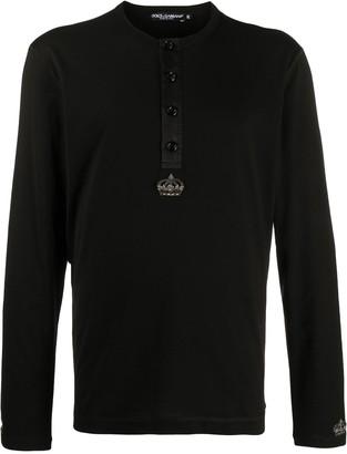 Dolce & Gabbana beaded motif long-sleeved T-shirt