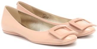 Roger Vivier Gomette patent-leather ballet flats