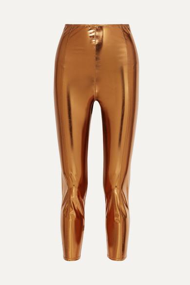 Lisa Marie Fernandez Karlie Metallic Stretch-pvc Leggings - Bronze
