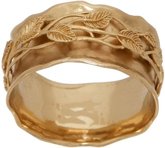 ADI Paz 14K Gold Leaf Lace Spinner Ring