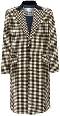 Vivienne Westwood Velvet Collar Gingham Check Coat