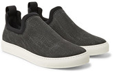 James Perse Zuma Neoprene-trimmed Canvas Slip-on Sneakers - Charcoal