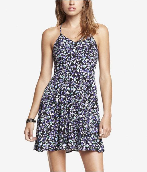 Express Floral Halter Slip Dress