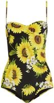 Dolce & Gabbana Sunflower-print balconette swimsuit