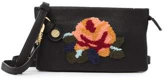 Foley + Corinna City Blooms Prive Vegan Leather Floral Wristlet Crossbody Bag
