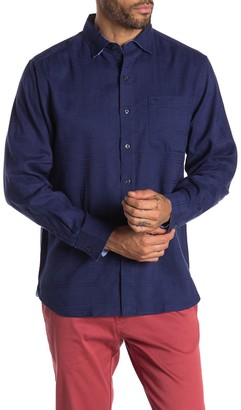 Tommy Bahama Costa Tautira Plaid Print Linen Blend Shirt
