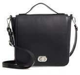 BP Convertible Faux Leather Backpack - Black